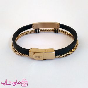 قیمت دستبند چرمی و استیل مردانه مون بلان
