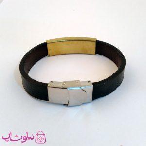 قیمت دستبند چرمی و استیل مردانه ورساچه