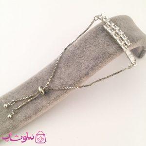 دستبند زنانه مارشالی سیلور طرح فشن