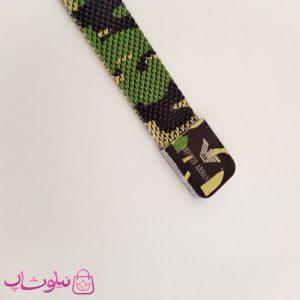 دستبند پسرانه امپریو آرمانی طرح چریکی سبز آهنربایی