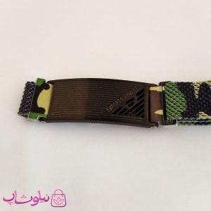 خرید دستبند پسرانه امپریو آرمانی طرح چریکی سبز