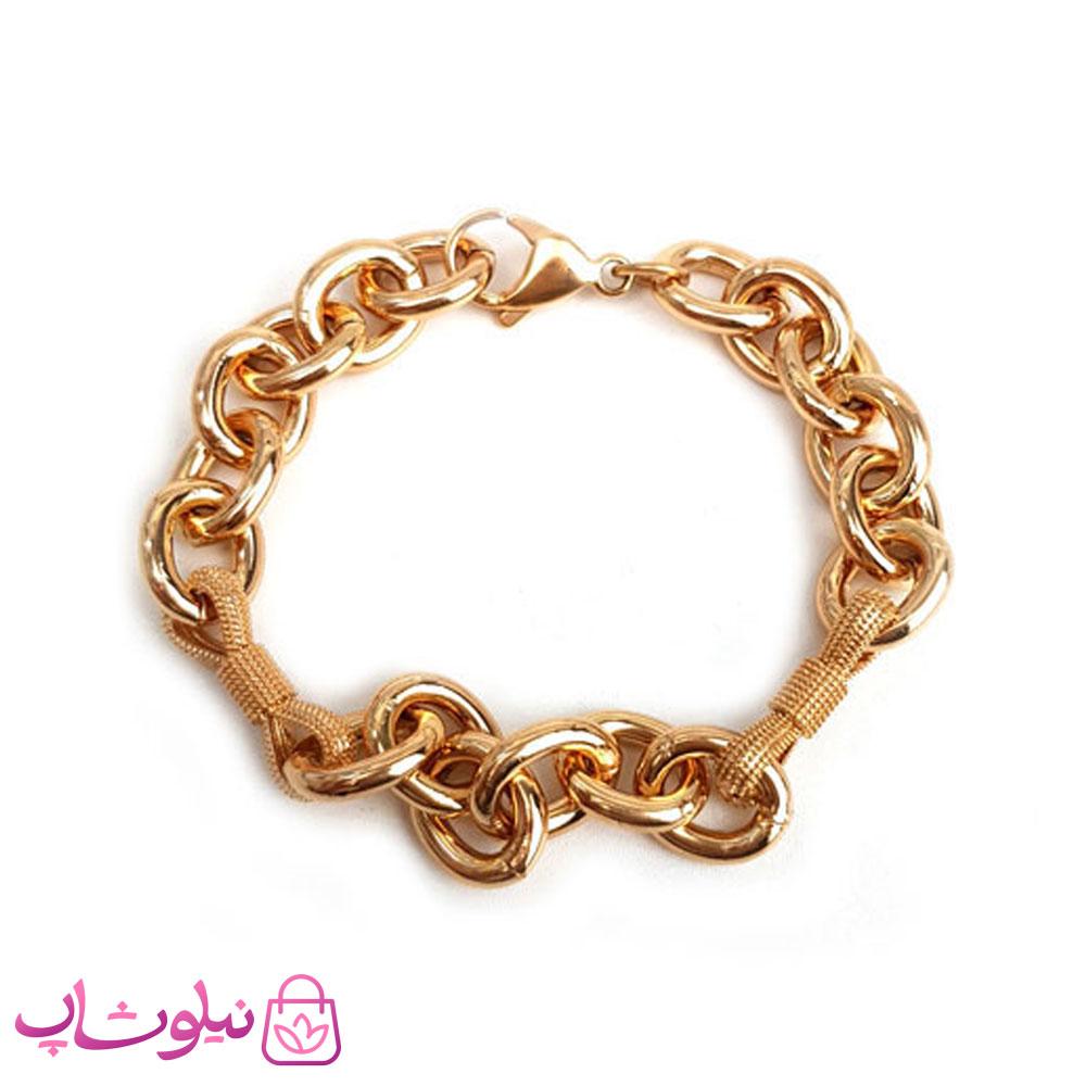 دستبند زنانه ژوپینگ طرح زنجیری پهن
