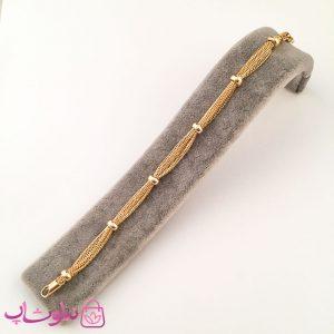دستبند زنانه ژوپینگ طرح زنجیر و مهره
