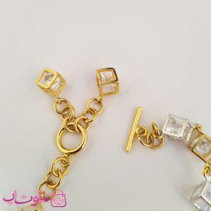 قفل دستبند زنانه ژوپینگ طرح مکعب با آویز